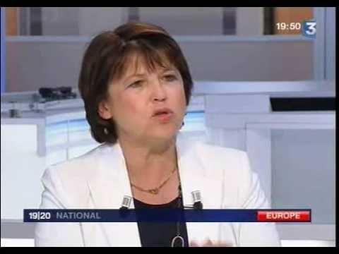 Politique France Martine Aubry au JT - http://pouvoirpolitique.com/martine-aubry-au-jt/
