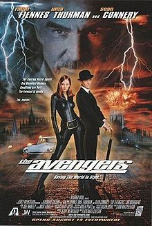 The Avengers is a 1998 American action spy film adaptation of the British television series of the same name from the 1960s. It stars Ralph Fiennes and Uma Thurman as secret agents John Steed and Emma Peel, and Sean Connery as Sir August de Wynter, a mad scientist bent on controlling the world's weather and blackmailing various governments for sun or rain.