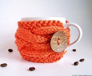 Can I drink my coffee from this mug?! Please!?Coffe Cups Cozy, Knits Cups, Gift Ideas, Coffee Cups Cozy, Mug Cozy, Mugs Cozy, Coffe Cozy, Crafts, Coffee Cozy