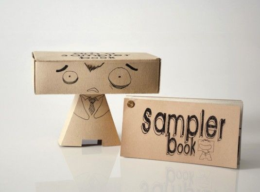 A fun and creative package design which holds a series of different printing techniques sample.http://nykykids.com/jenying-im-a-sampler-book/
