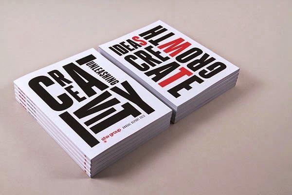 Contoh Desain Gambar Buku Laporan Tahunan - STW Group Annual Report & Event oleh Geoff Courtman