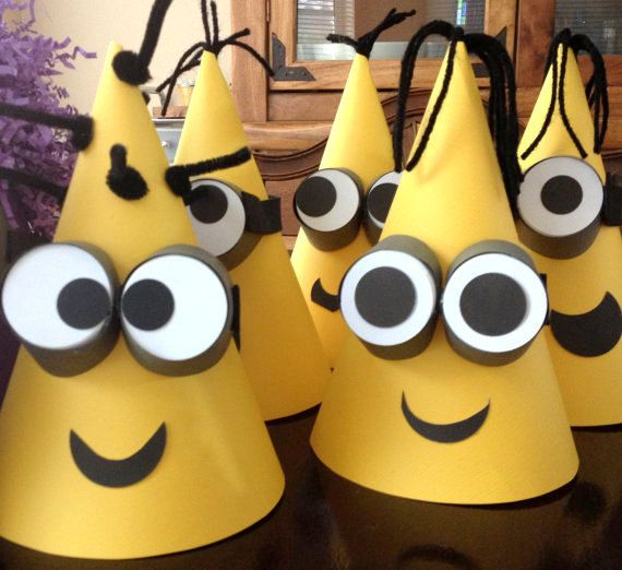 DESPICABLE Me CONED Party Hats  Despicable by PSKreativeKreations, $5.00
