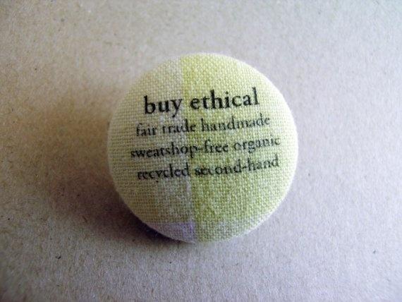 Fabric pin/badge by HeidiandSeek