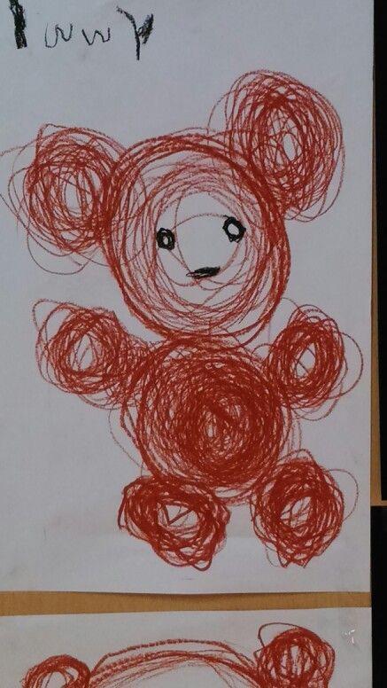 Schrijfdans: met cirkels maken we de beer.