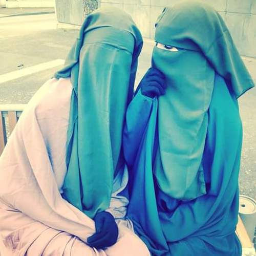 Two Friends in Jilbab and Niqab