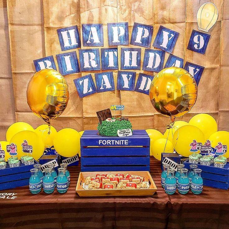 Fortnite Banner, Fortnite party, Fortnite birthday ideas