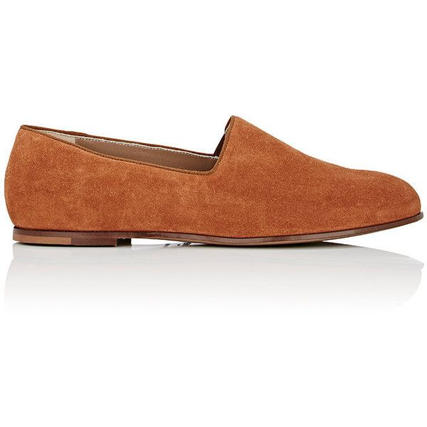 Soloviere Pantome Venetian Slippers (€350) ❤ liked on Polyvore featuring men's fashion, men's shoes, men's slippers, brown, mens flat shoes, mens slip on slippers, mens brown shoes, mens slip on shoes and mens leather sole shoes