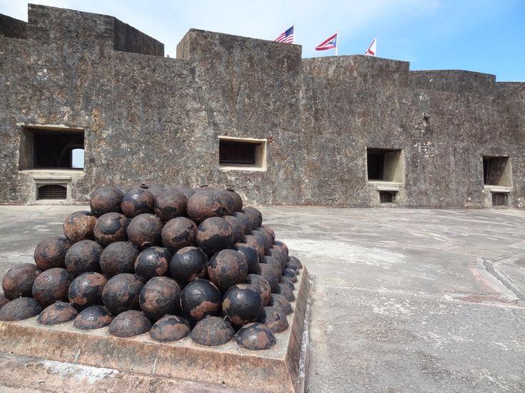 Flags fly high at Castillo de San Cristobal in San Juan Puerto Rico #travel #PuertoRico