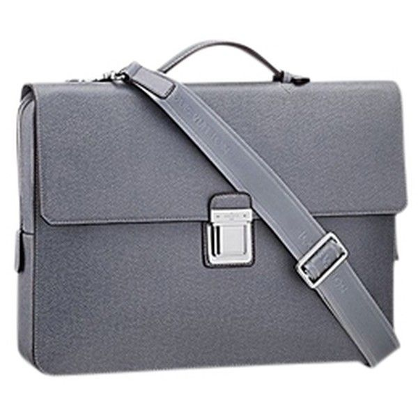 Pre-owned Louis Vuitton Like New Vassili Pm Gray Messenger Bag ($1,399) ❤ liked on Polyvore featuring bags, messenger bags, grey, pre owned bags, preowned bags, gray messenger bag and grey bag