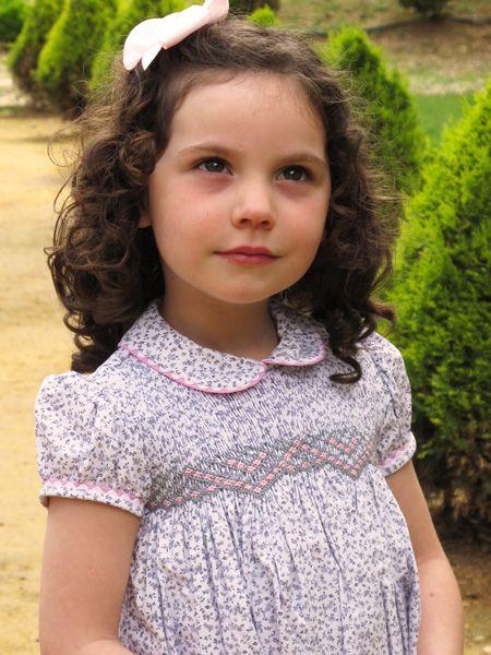 Girl Smocked Dress - Josephine - Click Image to Close
