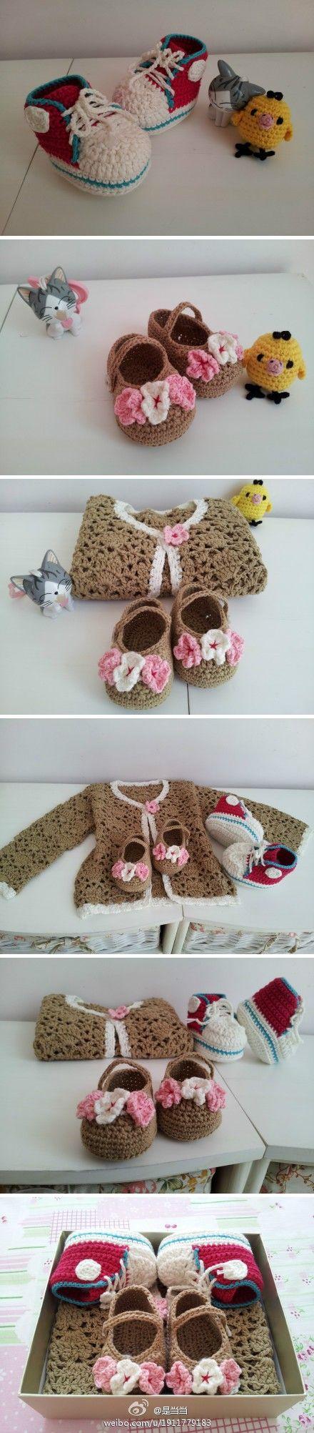 78 besten Crochet Baby bootties & Shoes 2017 Bilder auf Pinterest ...
