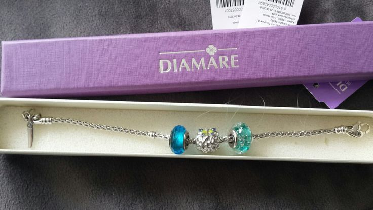 """Рубрика """"Мой первый браслет Diamare"""", чудесная фотография от Тамары Мироновой: 💎     """"Ну вот и мой первый браслет Diamare приехал, ура!"""". 🌺"""