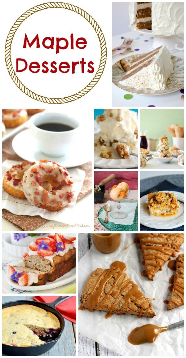 Maple Desserts - a delicious collection of maple desserts perfect for a Canada Day party