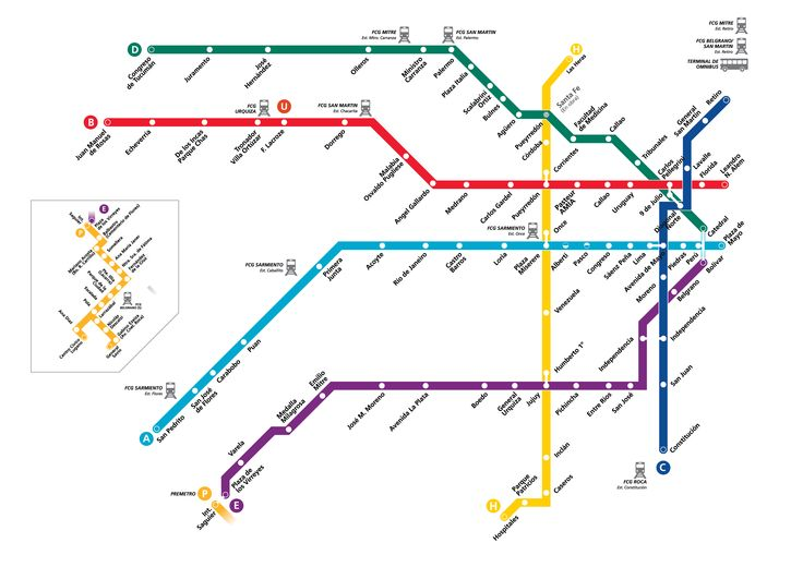 Mapa del subte