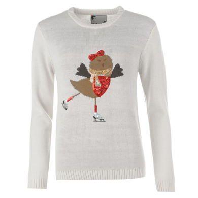Star | Star Christmas Jumper Ladies | Ladies Knitwear