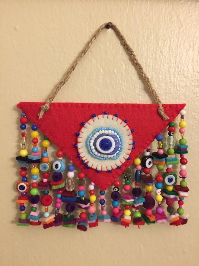 keçe, keçe nazarlık, nazarlık, amulet, turkish eye, felt, feltro, tasarım, design