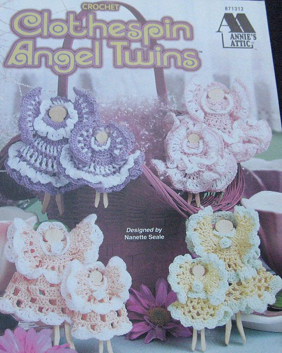 Clothespin Angel Twins Crochet Pattern Book Annies Attic