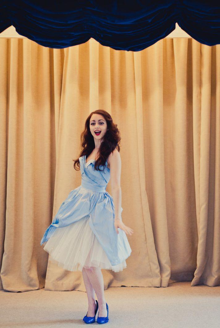 A little bit Alice in Wonderland & vintage pin up girl. We love this Alexandra King Little Blue Dress (LBD).