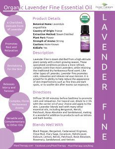 Organic Lavender Fine Product Sheet - Template