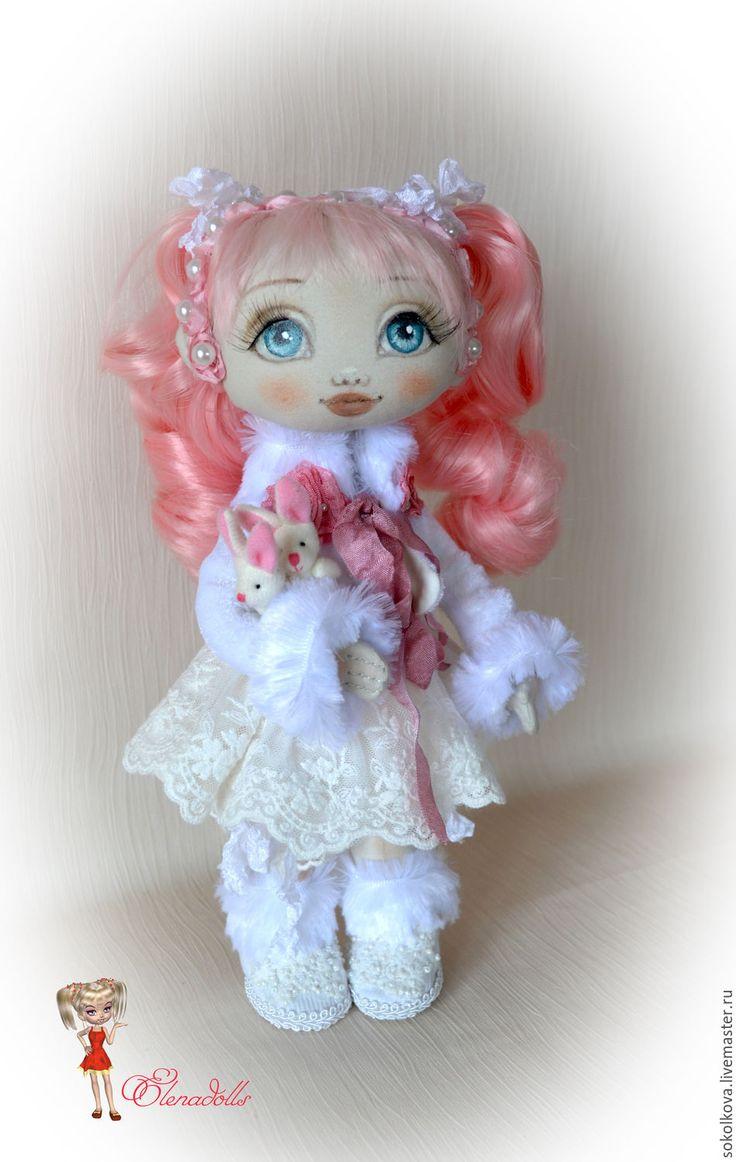 Купить Милана. Текстильная игровая куколка. - бледно-розовый, кукла, розовый, кукла ручной работы
