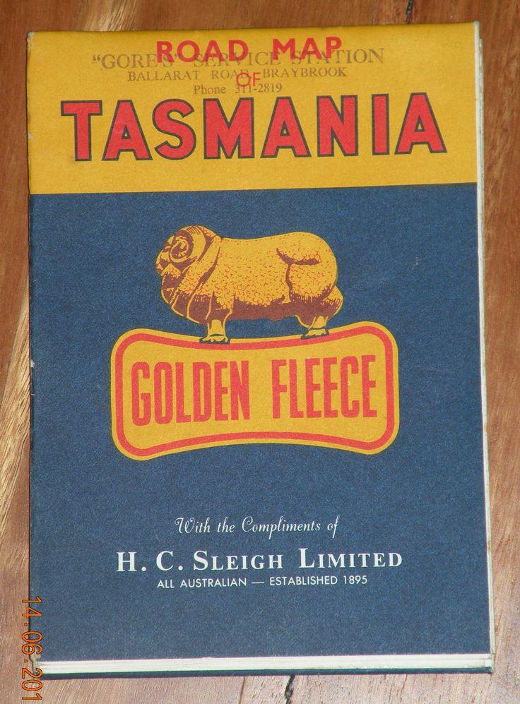 Golden Fleece Service station Tasmania road map