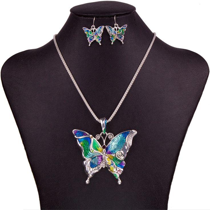 Butterfly Fashion Necklace & Earrings Set // Price: $10.95 & FREE Shipping Worldwide //  We accept PayPal and Credit Cards.    #jewelry #jewelrygram #fashionjewelry #jewelrydesign #instajewelry #jewelrydesigner #jewelryforsale #jewelrylover #jewelrymaking #q80 #jewelryoftheday #jewelryaddict #handmadejewelry #q8statigram #fuj #hermestwilly #finejewelry #showmeyourrings #jotd #jewellery #earrings #q8girls #hermesbelts #jewels #gemstone #gems #jewel
