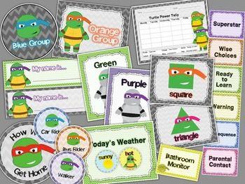 MEGA CLASSROOM THEME BUNDLE: TURTLE NINJA (EXPANDED) - TeachersPayTeachers.com