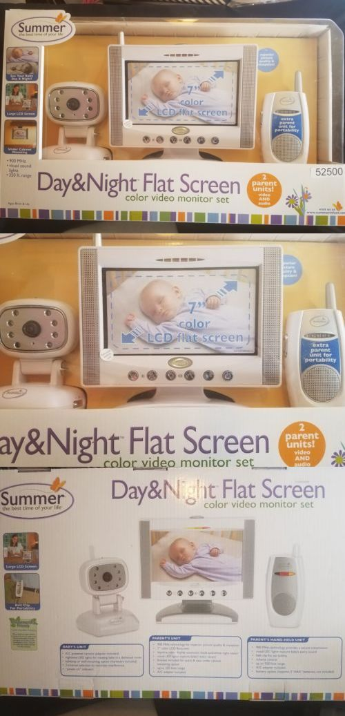 Baby Monitors 20435 Summer Infant Day And Night 7 Lcd Flat Screen Color Video 900Mhz Monitor 350 Ft BUY IT NOW ONLY 5599 On EBay
