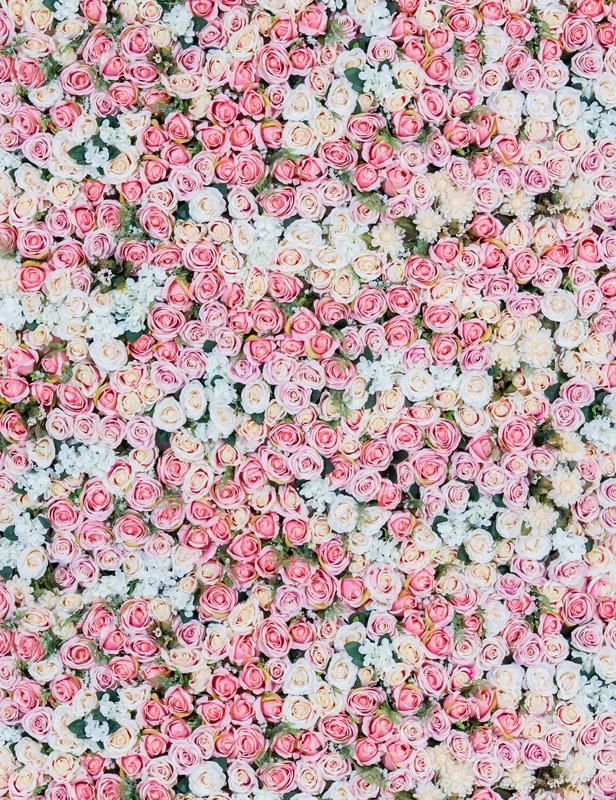 Pink And White Flowers Wall For Wedding Photography