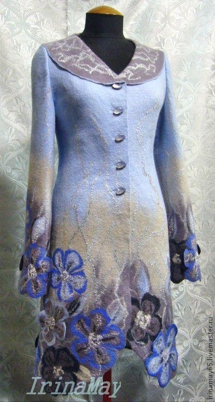 """Верхняя одежда ручной работы. Ярмарка Мастеров - ручная работа. Купить Пальто """"Яблоневый цвет"""". Handmade. Рисунок, шерсть 100%"""