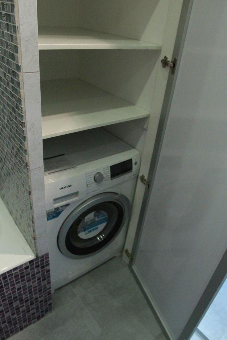 Стиральная машинка в нише, стиральная машина в ванной комнате
