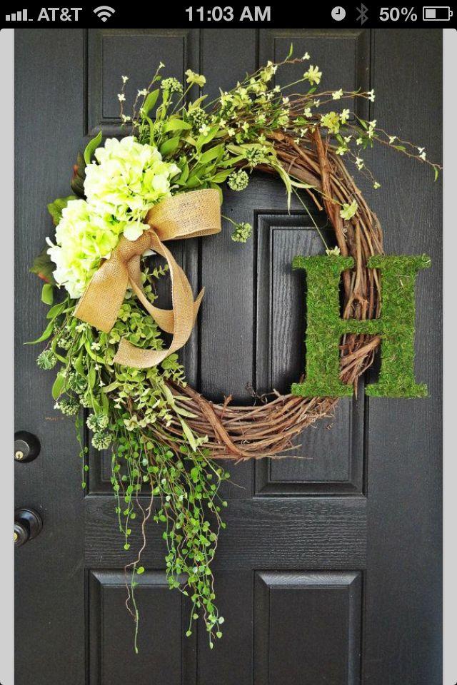 25 unique letter door wreaths ideas on pinterest. Black Bedroom Furniture Sets. Home Design Ideas