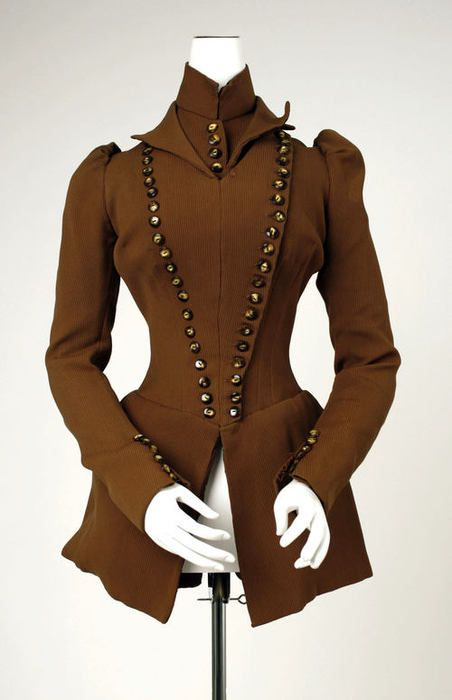 jacket ca. 1891 via The Costume Institute of The Metropolitan Museum of Art