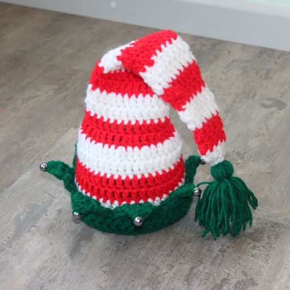 Christmas Crochet Elf Gnome Santa helper by FairytalePhotoProp