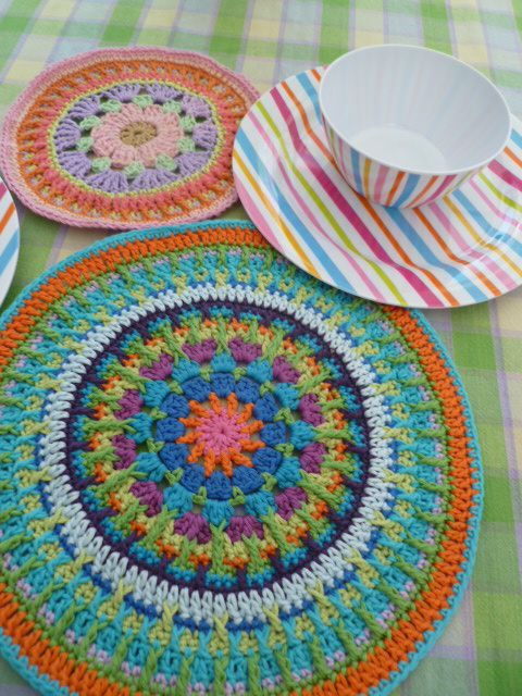 Crochet mandala cosas varias Pinterest