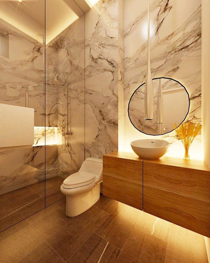 Desain kamar mandi minimalis mewah dan menawan   Portofolio By : Intervisual (Interior Designer di Sejasa.com)