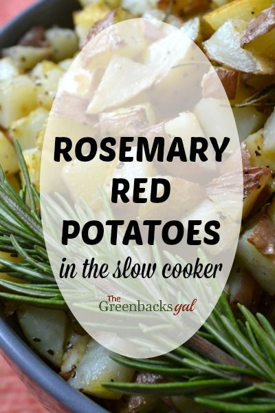 You won't believe how easy it is to make Rosemary Red Potatoes in the Slow Cooker (VIDEO)