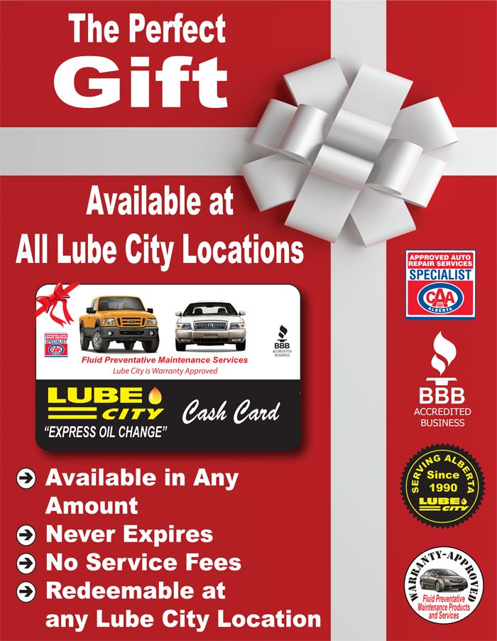 Gift Cards available at:  http://www.lubecity.ca/gift-cards/