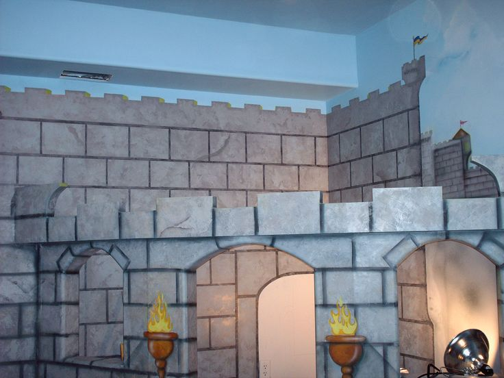 47 best images about medieval times on pinterest the for Castle mural kids room