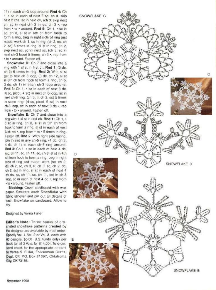 Esquemas de copos de nieve   SexyCrochet.COM