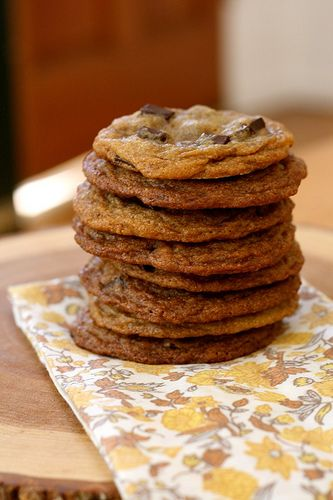 Chewy Molasses Chocolate Chip Cookies. There's currently a batch of these in the oven for my Dad's birthday. These are our new favorite (recipe search inspired by a Shoo Fly Pie with chocolate chips that Dan decided to make a couple of weeks ago).