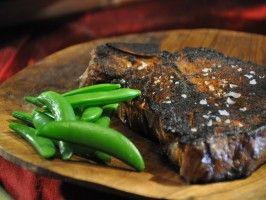 Cajun Blackened Steak with Sugar Snap Peas : Recipes : Cooking Channel ...