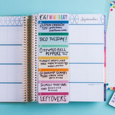 snap-in dashboard - meal planner