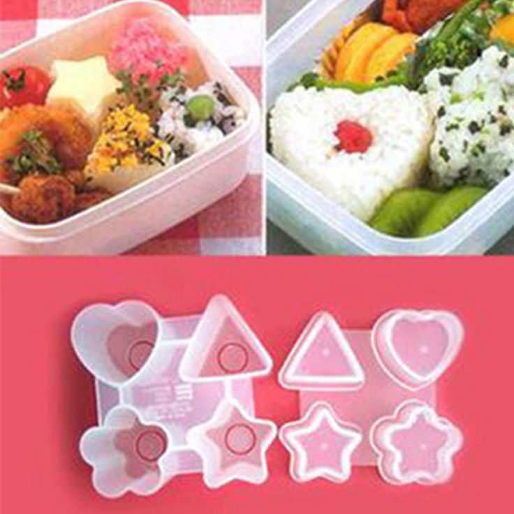 Four Shapes Sushi Rice Ball Mold Punch DIY Triangle Heart Star Bento Maker Onigiri Sandwich Mould Kitchen Gadget Cooking Tools