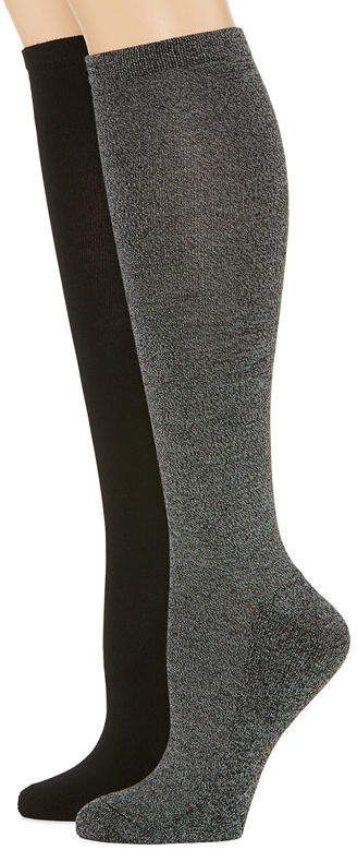 7a70c274dd3 MIXIT Mixit 2 Pk Rayon From Bamboo Pillow Sole 2 Pair Knee High Socks -  Womens