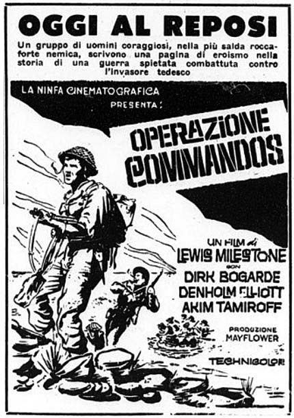 """""""Operazione Commandos"""" (They Who Dare, 1964) di Lewis Milestone, con Dirk Bogarde e Denholm Elliott"""