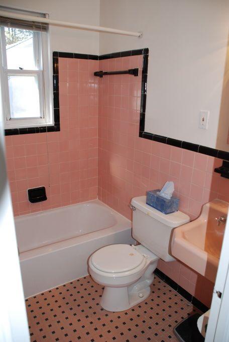 1000 images about 50s pink and green tile bathroom on. Black Bedroom Furniture Sets. Home Design Ideas
