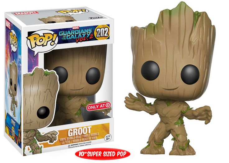 "Guardians of the Galaxy Vol. 2: 10"" Super Size Groot Pop figure by Funko, Target exclusive"