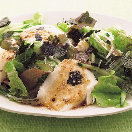 レタスクラブの簡単料理レシピ ねぎ、のり、ごまで風味抜群「チョレギ豆腐」のレシピです。