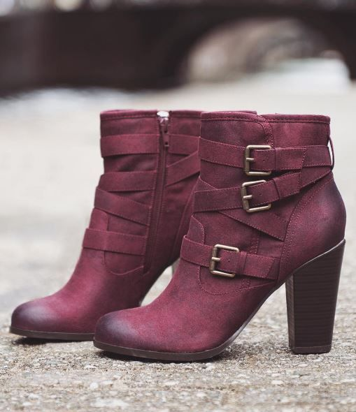 Love the colors of these booties from JustFab